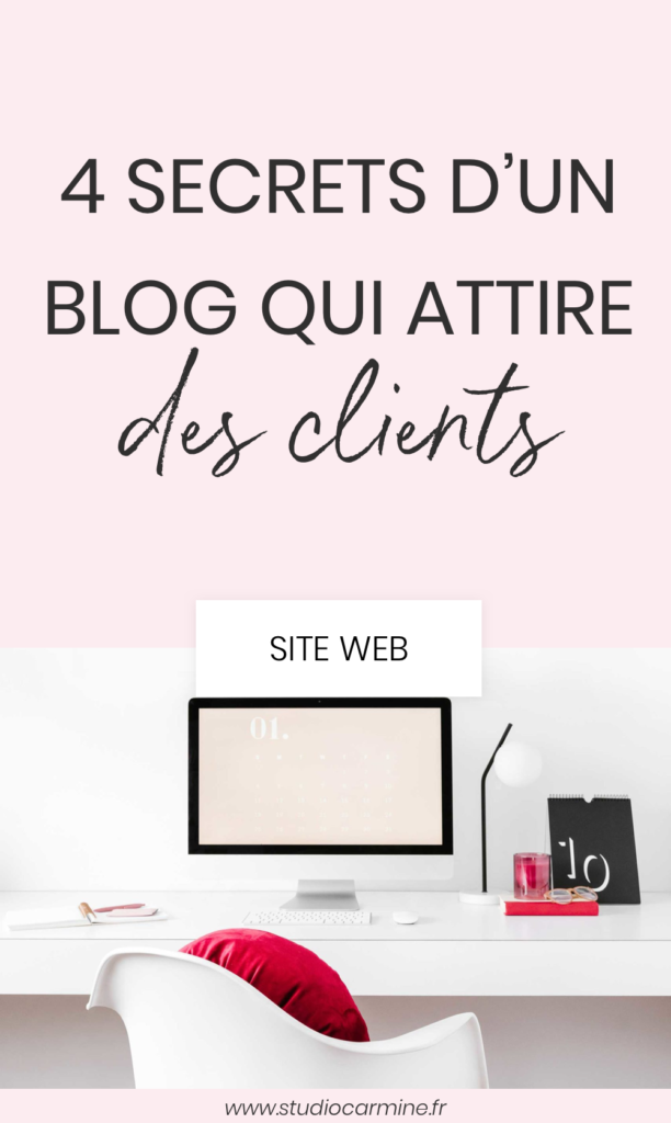 Avoir un blog qui attire des clients en freelance : l'épingle Pinterest