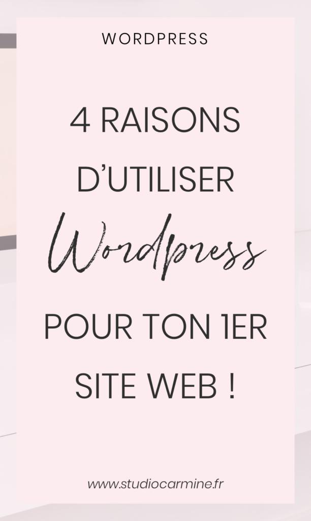 Pourquoi choisir WordPress pour ton premier site web ? L'épingle Pinterest